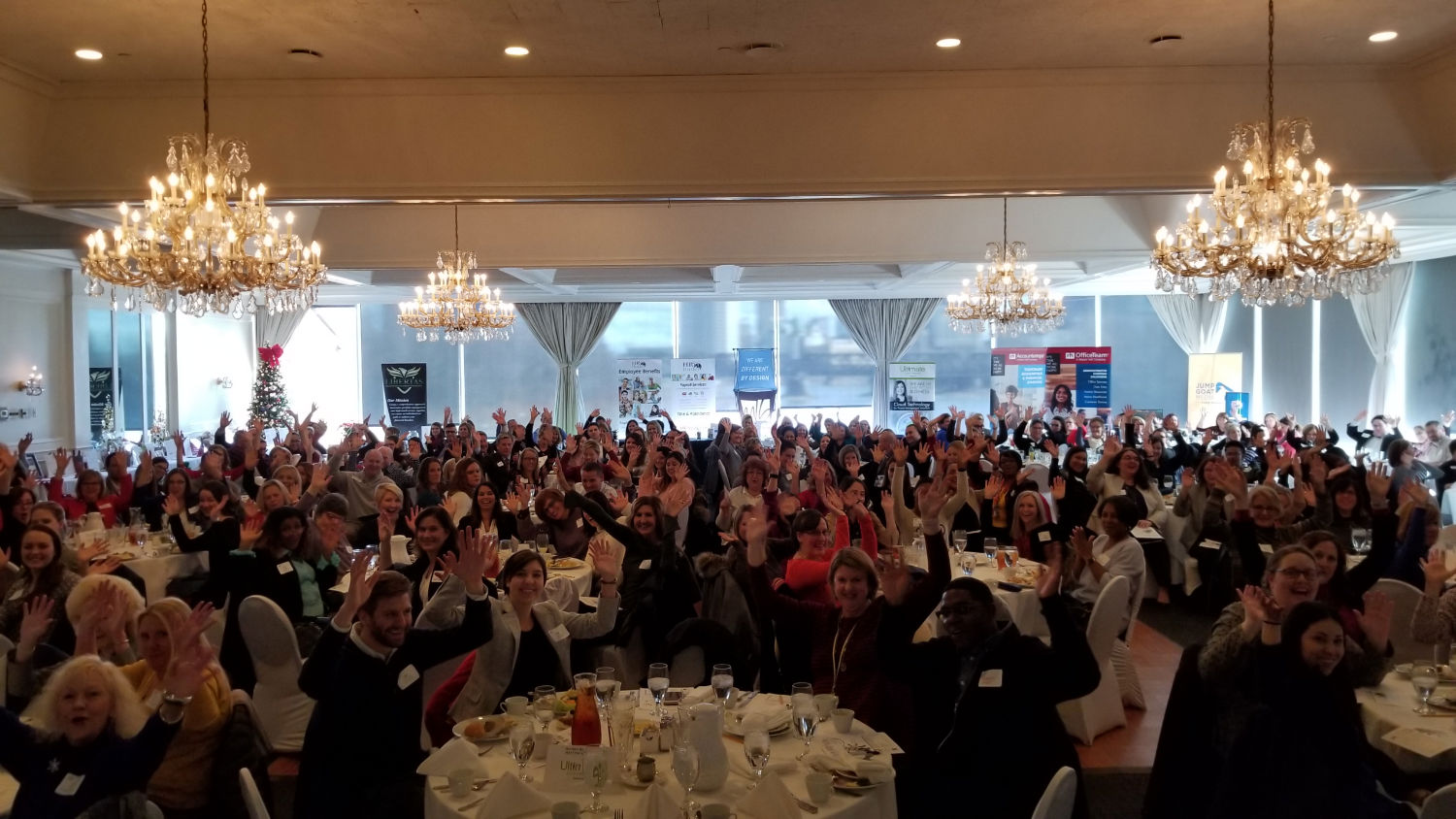 Audience at a bruce christopher business speaking event