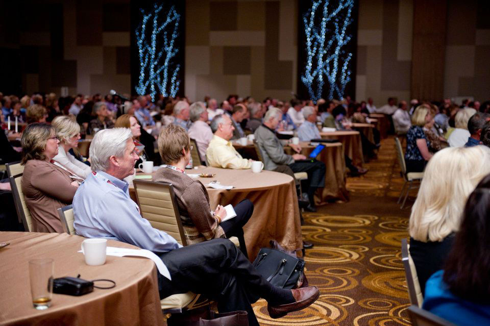 Audience at keynote event by bruce christopher