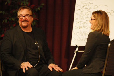 bruce christopher humorist speaker with woman