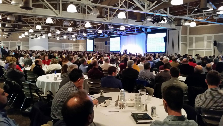 bruce christopher delivering keynote at medtronic conference