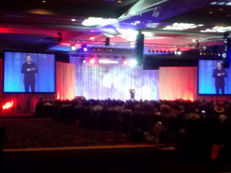 Bruce Speaking at event as keynote speaker